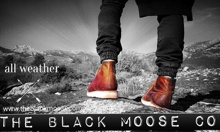 botas de piel black moose