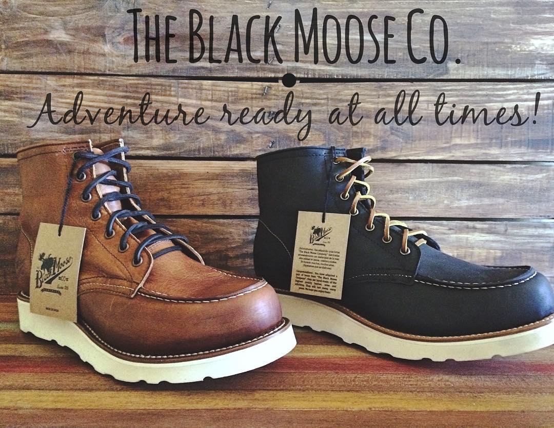 botas piel black moose