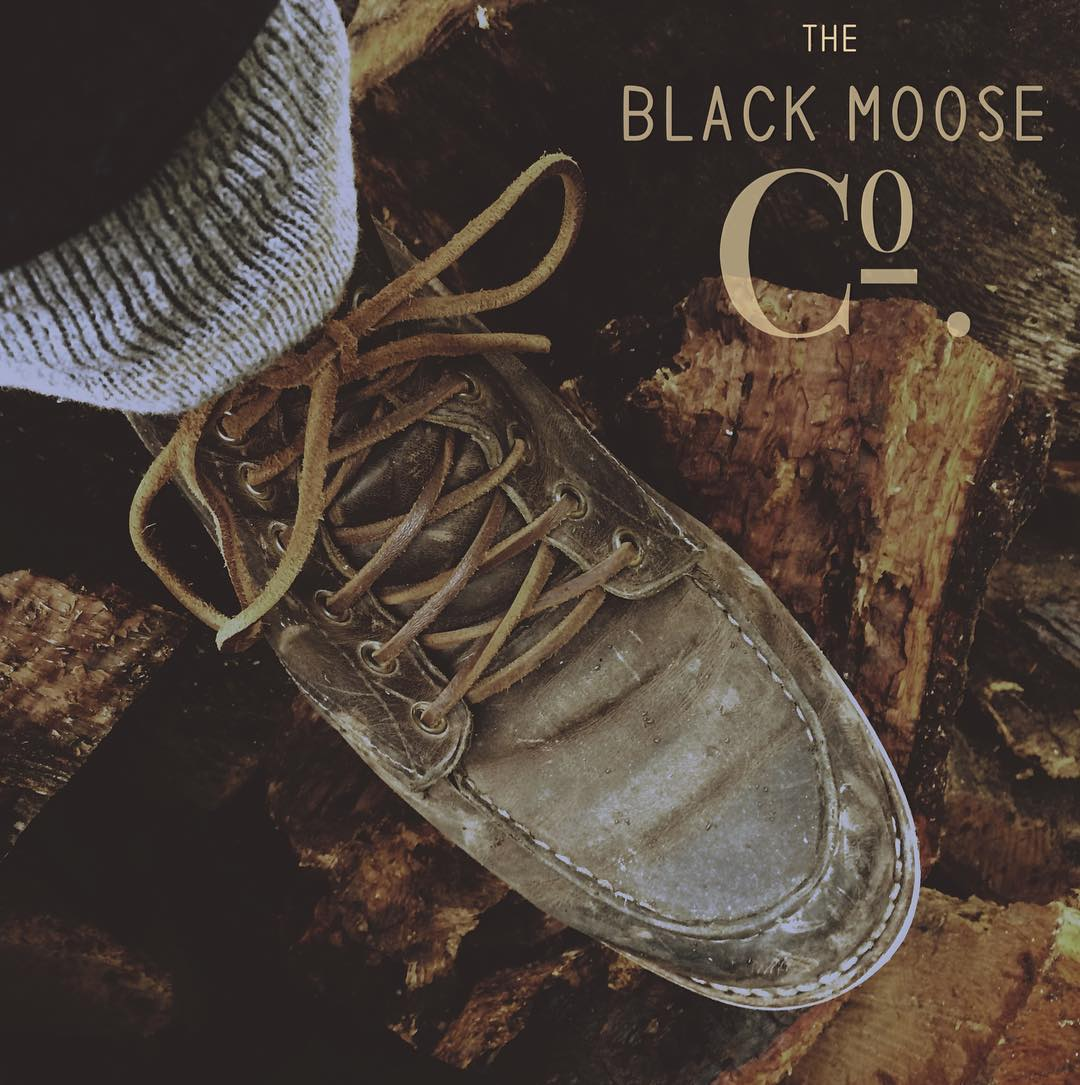 botas piel montaña black moose