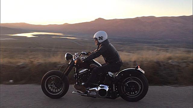 botas piel moto black moose